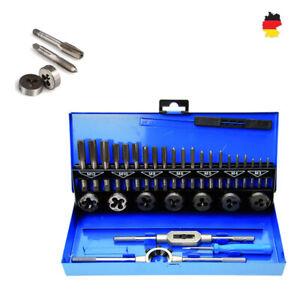 Profi Gewindeschneider Set M3-M12 32 tlg Fein Gewinde Schneider Bohrer Werkzeug