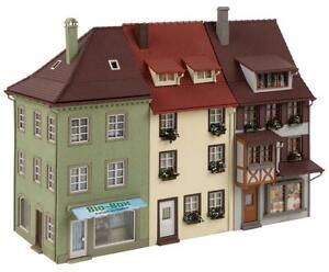 FALLER 130708 Set 3 City Houses, Terraced House 7 9/16x4 11/32x5 31/32in Nip °