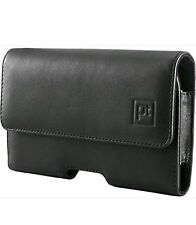 """NEW Platinum Universal BLACK Leather Folio Wallet Hip Case for Phones up to 5"""""""