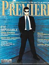 PREMIERE Nº233 AGOSTO 1996 TOM CRUISE/ LYNCH/ ARQUETTE/ BINOCHE/ CRONENBERG