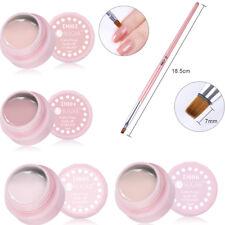 6Pcs 5ml Nail UV Gel Polish Soak off Nude Nail Art UV Gel Brush Kit UR SUGAR
