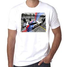 BMW Z4 M racecar pit stop mens 100% cotton T-shirt