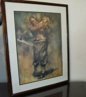 Bobby Jones.Rare  Lithograph of the Classic Golfer..Limited Ed...52 of 110
