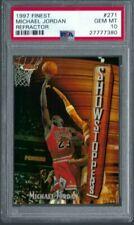 1997 Topps Finest MICHAEL JORDAN REFRACTOR #271 PSA 10 GEM MINT. Chicago Bulls