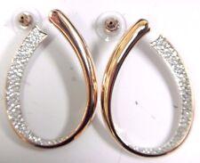 Exist Crystal Pierced Earrings Rose Gold 2016 Swarovski Jewelry #5182322