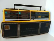 PHILIPS D8304 Radio CASSETTE Boombox Vintage 1980s YELLOW Tested and Working