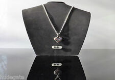 Silver Plated Necklace with Rhinestone Heart Pendant Wedding Family Favour Gift