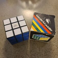 Vintage 80s Wonderful Puzzler 3X3 Puzzle Cube Rubik's Cube With Box
