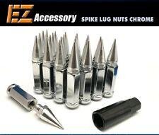 24 Pc Set Spike Lug Nuts ¦ Chrome ¦ 12x1.5 ¦ Chevy | with Key