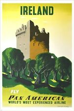 PAN AMERICAN - IRELAND vintage travel poster COLLECTOR'S CLASSIC 24X36 hot