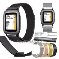 Bandkin Milanese Loop Bracelet Stainless Steel Watch Band For Pebble Time 2