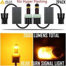 Alla Lighting 7440 LED Rear Turn Signal Light Lamp Yellow Bulb,NO hyper flashing