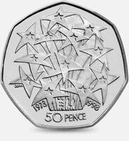 1998 50P COIN RARE EU EEC EUROPEAN ECONOMIC COMMUNITY 25TH ANN FIFTY PENCE b