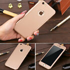 360° Hybrid Hard Ultra Thin Case +Tempered Glass Cover for Apple iPhone 6 7 Plus