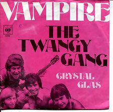 """Twangy Gang7"""" Vampire / Crystal Glas (D,CBS,1969) rarer Deutscher Beat"""