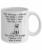 Funny Cat Mug, Me And You Is Friends.. Novelty 11oz White Ceramic Coffee Tea Cup