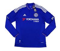 New Adidas CHELSEA Home LONG SLEEVE Soccer Football Jersey Shirt Men ... 0c3a682a0