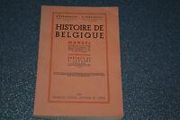 Histoire de Belgique / fournémont 1934 (C1)