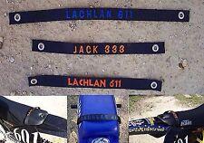 25mm WIDE CUSTOM EMBROIDED SEAT LIFT STRAP,KTM 50,KTM 65,PW50,HONDA,SUZUKI,YAMAH