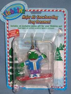 Webkinz Major Air Snowboarding Frog Christmas Ornament NWT **FAST Shipping!** =D