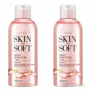 2x Avon Skin So Soft Silky Moisture Tissue Oil -150 ml