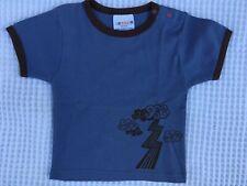 Sckoon Blue Thunder Top Tee Size 00, 1 100% Organic Cotton Xmas Gift Boy