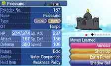 Pokemon Strategy Guide: Shiny Palossand 6IV +Items Customization Sun/Moon