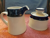 NORITAKE ~ PRIMASTONE ~ SUGAR with LID AND CREAMER from JAPAN