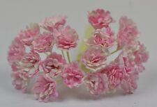 100 LIGHT PINK WHITE GYPSOPHILA miniature Mulberry Paper Flowers wedding
