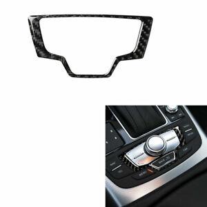 For Audi A6 A7 2012-2018 Carbon Fiber Interior Multimedia Knob Decor Trim Cover