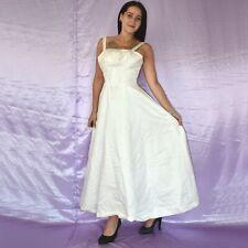 Dulce Tirantes Satén Vestido de Novia XS Estilo Campana Baile Maxi