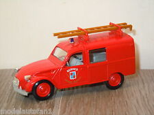 Citroen 3 CV Service Sapeurs Pompiers van Eligor France 1:43  *8247