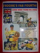 Chris Froome 2017 Tour de France winner - souvenir print