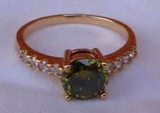 18k Yellow GF elegant Women Fashion Ring Green Stone  - 8
