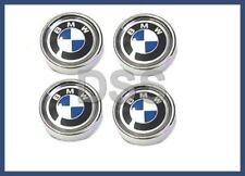 New Genuine BMW e10 e30 RARE Wheel Center Hub Caps Set (x4) Chrome w/ Emblem
