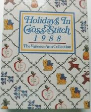HOLIDAYS IN CROSS STITCH 1988 HARDCOVER BOOK