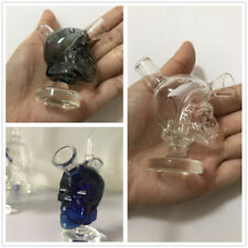 Smoking Tobacco Skull Glass Water Pipe Shisha Beaker Bubbler Hookah Cigarette