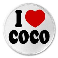 """I Love Coco - 3"""" Sew / Iron On Patch Nickname Pet Gift Present Cute Love Pet"""