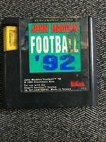 JOHN MADDEN FOOTBALL '92 - SEGA GENESIS - GAME ONLY - FREE S/H - (C1)