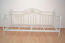 Tagesbett cremeweiß inkl. Lattenrost Einzelbett Day-Bed Metallbett romantisch