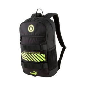 BVB Rucksack Deck Backpack schwarz-neongelb