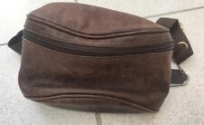 Rare Vintage Coach British Brown Leather Fanny Pack Waist Bag L6B-0515