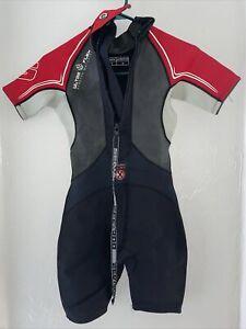 seadoo wetsuit youth sz 10 black red 4 way flex💯😇✅
