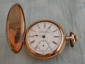 "Large Antique Waltham GF Hunter 17J ""Royal"" pocket watch found in an old estate"