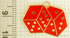 Gold-toned key chain with a gold-plated & enamel dice fob
