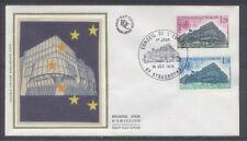 FRANCE FDC - S88 89 1 CONSEIL DE L'EUROPE - STRASBOURG 14 Oct 1978 - LUXE soie