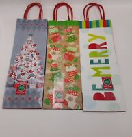 Christmas Treat Bags Cello Favor Loot Cookie Name Tags Ties Santa Snowman 11x5x3