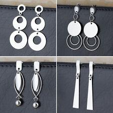 4 Pair/Lot Women Stainless Steel Fashion Charm Ear Eardrop Earrings Wholesale