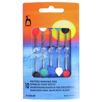 Pony 10 x Knitters Marking Pins for Knitting Blunt Points