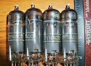 4 Good Working DYNACO by RCA 6BQ5 / EL84 Tubes